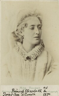 Clara Marion Jessie Rousby (née Dowse) as Princess Elizabeth in ''Twixt Axe and Crown', by London Stereoscopic & Photographic Company - NPG Ax18158