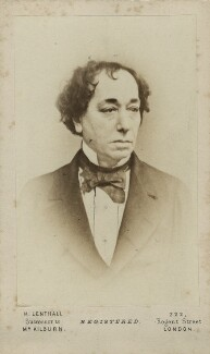 Benjamin Disraeli, Earl of Beaconsfield, printed by Henry Lenthall, after  William Edward Kilburn, 1864-1877 (early 1860s) - NPG Ax17734 - © National Portrait Gallery, London