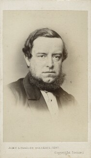 George Frederick Samuel Robinson, 1st Marquess of Ripon and 3rd Earl de Grey, by John & Charles Watkins, 1860s - NPG Ax17746 - © National Portrait Gallery, London