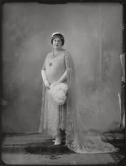 Violet Yolande Lyttelton (née Leonard), Viscountess Cobham, by Bassano Ltd - NPG x124640