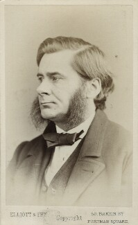 Thomas Henry Huxley, by Elliott & Fry, circa 1874 - NPG Ax17796 - © National Portrait Gallery, London