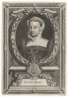 Fictitious portrait called Queen Mary I, by Peter Vanderbank (Vandrebanc), after  Edward Lutterell (Luttrell) - NPG D21384