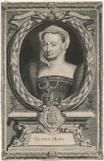 Fictitious portrait called Queen Mary I, by Peter Vanderbank (Vandrebanc), after  Edward Lutterell (Luttrell) - NPG D21385