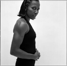 Kelly Holmes, by Harry Borden, 22 February 2005 - NPG x128143 - © Harry Borden