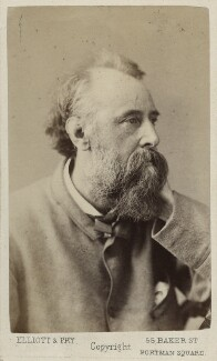 George Frederic Watts, by Elliott & Fry, circa 1870 - NPG Ax17855 - © National Portrait Gallery, London