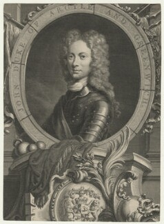 John Campbell, 2nd Duke of Argyll and Greenwich, by Jacobus Houbraken, after  William Aikman - NPG D21422