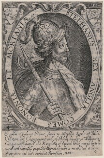 Fictitious portrait called King Stephen, by Renold or Reginold Elstrack (Elstracke) - NPG D21424
