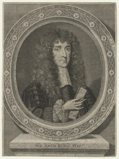 Sir John King, by William Sherwin, after  Unknown artist - NPG D21432