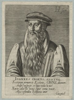 John Knox, by Hendrik Hondius (Hond), after  Adrian Vanson (van Son) - NPG D21442