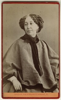 George Sand (Amandine-Aurore-Lucile Dupin, later Baroness Dudevant), by Nadar - NPG Ax17907