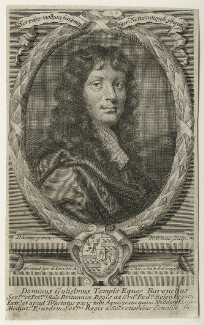 Sir William Temple, Bt, by Robert White, after  Sir Peter Lely - NPG D21447