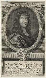 Sir William Temple, Bt, by Michael Vandergucht, published by  William Taylor, after  Sir Peter Lely - NPG D21446