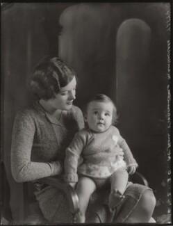 Nell Vere Montagu (née Stead), Duchess of Manchester; Sidney Arthur Robin George Drogo Montagu, 11th Duke of Manchester, by Bassano Ltd - NPG x124870