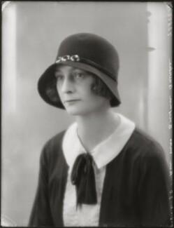 Violet Wilmot Heathcote Bourke (née Stisted), by Bassano Ltd - NPG x124879