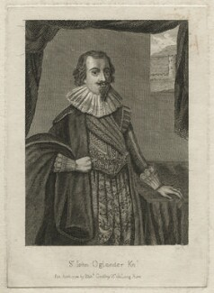 Sir John Oglander, by and published by Richard Godfrey, after  Unknown artist - NPG D21549