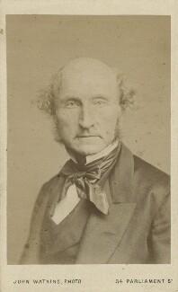 John Stuart Mill, by John Watkins, or by  John & Charles Watkins, 1865 - NPG Ax18212 - © National Portrait Gallery, London