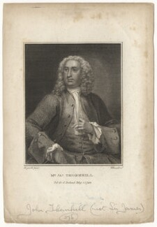 John Thornhill, by John Whessell, after  William Hogarth - NPG D21555
