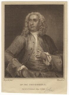 John Thornhill, by John Whessell, after  William Hogarth - NPG D21556