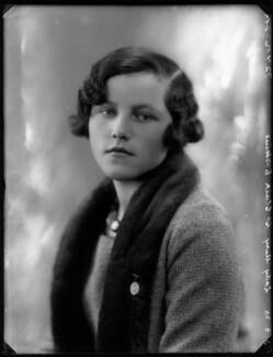 Lady Mary Sybil Dunn (née St Clair-Erskine), by Bassano Ltd - NPG x124915