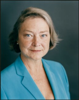 Kate Adie, by Harry Borden - NPG x128163