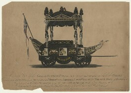 Horatio Nelson ('A correct View of the Grand Funeral Car'), by and printed by Hawkins & Ottway, published by  J. Page - NPG D21558