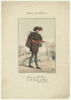 Harry A. Perry as Antonio in 'The Merchant of Venice', by Salucci, after  C.H., mid 19th century - NPG  - © National Portrait Gallery, London