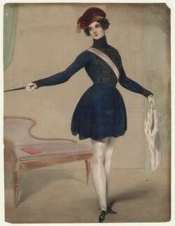 Louisa Cranstoun Nisbett (née Macnamara, later Boothby) as Cornet Fitzherbert Fitzhenry in 'The Married Rake', by William Drummond - NPG D21563