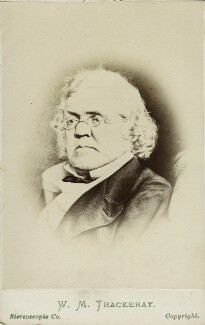 William Makepeace Thackeray, by London Stereoscopic & Photographic Company, after  Ernest Edwards - NPG Ax18323
