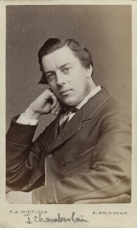 Joe Chamberlain, by Henry Joseph Whitlock, 1870s - NPG Ax18358 - © National Portrait Gallery, London