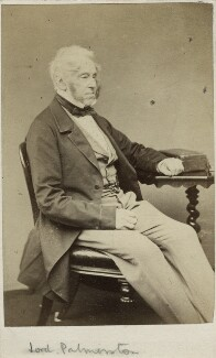 Henry John Temple, 3rd Viscount Palmerston, by W. & D. Downey - NPG Ax18368