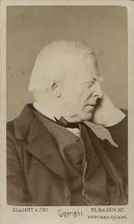 Robert Lowe, 1st Viscount Sherbrooke, by Elliott & Fry - NPG Ax18378
