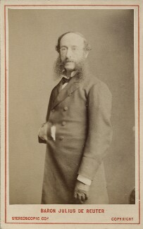 (Paul) Julius de Reuter, Baron de Reuter (né Israel Beer Josaphat), by London Stereoscopic & Photographic Company - NPG Ax18381