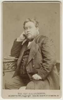 Charles Haddon Spurgeon, by Elliott & Fry - NPG Ax18239