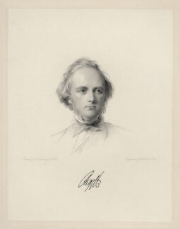 George Douglas Campbell, 8th Duke of Argyll, by William Holl Jr, after  George Richmond - NPG D20672