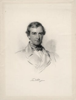 Frederick Thesiger, 1st Baron Chelmsford, by William Holl Jr, after  George Richmond, 1854 or after - NPG D20674 - © National Portrait Gallery, London