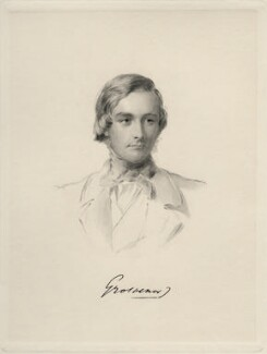 Hugh Lupus Grosvenor, 1st Duke of Westminster, by William Holl Jr, after  George Richmond - NPG D20677