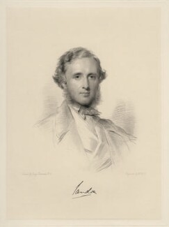 Dudley Francis Stuart Ryder, 3rd Earl of Harrowby, by William Holl Jr, after  George Richmond - NPG D20679