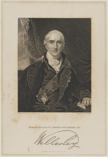 Richard Colley Wellesley, Marquess Wellesley, by G. Adcock, published by  Fisher Son & Co, after  Sir Thomas Lawrence - NPG D21599