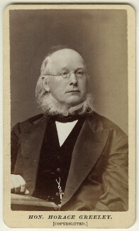 Horace Greeley, by Pearsall - NPG Ax18297