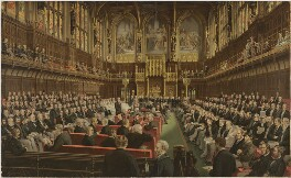 Lord Beaconsfield addressing the House of Lords, after Frederick Sargent - NPG D21600