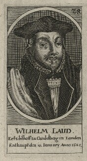 William Laud, by Unknown engraver - NPG D21591