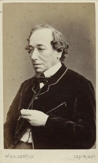 Benjamin Disraeli, Earl of Beaconsfield, by W. & D. Downey - NPG Ax18275
