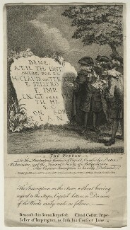 The Puzzle (Gravestone to Claud Coster and Jane Coster and four unknown antiquaries), published by John Bowles - NPG D21611