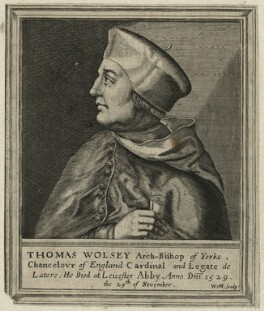Thomas Wolsey, by William Marshall, after  Unknown artist, published 1648 - NPG D21615 - © National Portrait Gallery, London