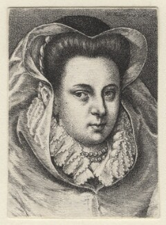 Unknown woman formerly known as Mary, Queen of Scots, by Wenceslaus Hollar, after  Unknown artist - NPG D21645