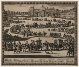 King William III ('The Entry of His Majesty William III, King of Great Britain, in The Hague, 5 February 1691'), by Jan Luyken (Luiken, Luijken), published by  Carel Allard - NPG D21650