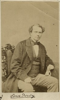 Edward Henry Stanley, 15th Earl of Derby, by Unknown photographer, 1860s - NPG x13388 - © National Portrait Gallery, London