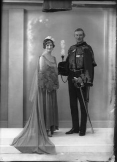 Adela Emily (née Wykeham), Lady Birchall; Sir John Dearman Birchall, by Bassano Ltd - NPG x33904