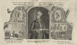 John Wilkes ('English Liberty established or a Mirrour for Posterity'), printed for J. Lee, sold by  John Williams, sold by  J. Kingsberry - NPG D21661