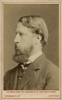 Spencer Compton Cavendish, 8th Duke of Devonshire, by London Stereoscopic & Photographic Company - NPG x8029